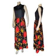 1970's  Maxi/Hostess Dress by Julie Miller