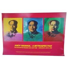Andy Warhol Mao 1973 A Retrospective Museum of Modern Art (1989) Poster 22x32