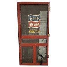 Advertising Bond Bread Sign Heavy Duty Screen Door FREE SHIPPING!