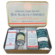 1926 Official Boy Scout First Aid Kit NOS