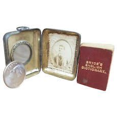 "1890 Bryce's ""Smallest Dictionary In The World"" Miniature Book in Magnifying Glass Locket"