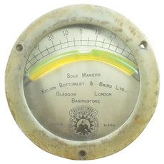 Brass Nautical Ship Clinometer by Kelvin Bottomley & Baird Ltd. FREE SHIPPING!!