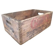 Wooden Cremo Brewing Co Inc Beer Bottle Shipping Crate from 1940 FREE SHIPPING