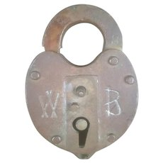 Fonda Johnstown & Gloversville Railroad FJ&GRR Brass Pad Lock Wilson & Bohannon