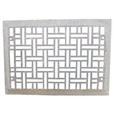 Cast Iron Art Deco Basket Weave Wall Register Grate Cover
