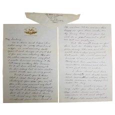 """Korean War Era """"If I Die"""" Death Letter, Lackland Air Force Base"""