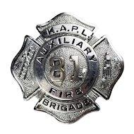 Vintage Fire Department Badge-Knolls Atomic Power Laboratory, Niskayuna NY
