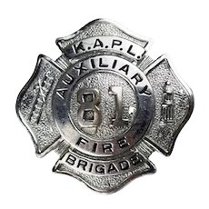 Vintage Fire Department Badge-Knolls Atomic Power Laboratory, Niskayuna NY