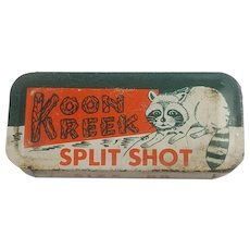 Vintage Koon Kreek Split Shot Fishing Tin