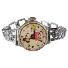 Original Vintage 1930's Ingersoll Mickey Mouse Wrist Watch