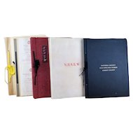"Large Scrapbook Lot: National Society New England Women - Albany Colony, Vintage 1938-1962   Five 16"" Books"