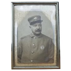 Early Police Officer Cabinet Card Photo- New York City- Framedramed