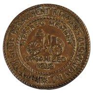 New York State Permanent Firemen's Association Collar/Lapel Button/Pin Circa 1930