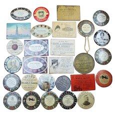 Lot of 29 Pocket Mirrors with Buffalo NY Advertisements