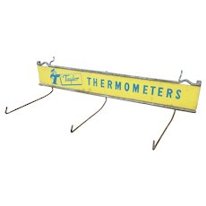Vintage Taylor Thermometer Store Display Tin Sign Hanger