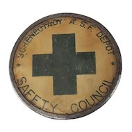 WWII Army Service Forces Schenectady NY Depot Safety Council Pin Badge, Whitehead & Hoag - Free Shipping