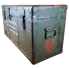 WWII Japanese Unit 100 Biological Warfare Military Trunk Chest Box, Located in China
