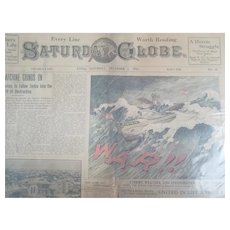 Collection of 25 World War One Era 1915-17 Saturday Globe Newspapers