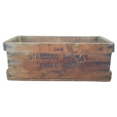 Standard Railway Fusee Corp Fireworks (Railroad Flares) Wooden Shipping Crate FREE SHIPPING