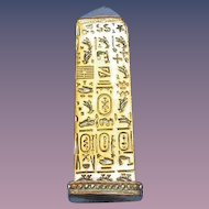 Cleopatra's Needle figural match safe, c. 1885