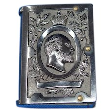 King Edward VII match safe, vulcanite, c. 1902