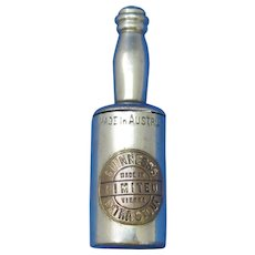 Figural Guinness Extra Stout bottle, match safe, nickel plated brass, c. 1895