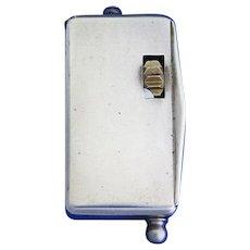 Fusee & tinder box w/ clog wheel match safe, 900 silver, Georg Anton Scheid, c. 1880