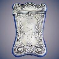Foliate motif match safe, sterling by Gorham Mfg. Co., #925, 1893