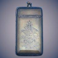 Anheuser Busch beer match safe, c. 1893