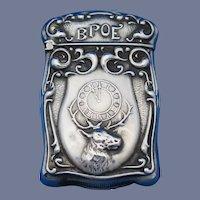 BPOE motif sterling match safe by F. S. Gilbert, C. 1900