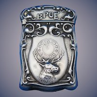 BPOE motif sterling match safe by F. S. Gilbert, C. 1900