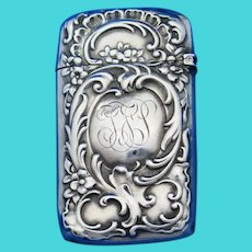 Foliate motif match safe, sterling by Gorham Mfg. Co., 1896