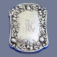 Thistle and leaf motif match safe, sterling by Gorham Mfg. Co., c. 1900