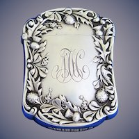 Thistle and leaf motif match safe, sterling by Gorham Mfg. Co., c. 1900