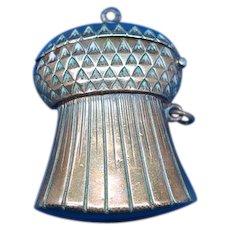 Figural Scottish thistle match safe, brass, c. 1890