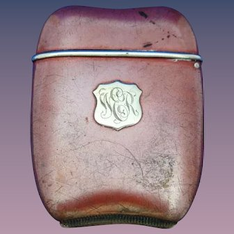 Sterling match safe with copper finish, by Foster & Bailey, #2, c. 1900