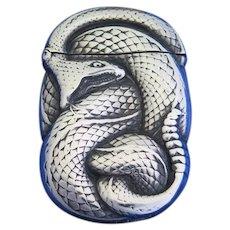 Rattlesnake design match safe, sterling by Wm. Kerr, c. 1900