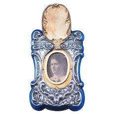 Hidden photo match safe, sterling by Battin & Co., c. 1900