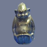 Figural billiken (The God Of Luckiness) match safe, brass. patented Oct. 6, 1908