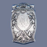Floral and foliate motif match safe, sterling by Gorham Mfg. Co., 1911