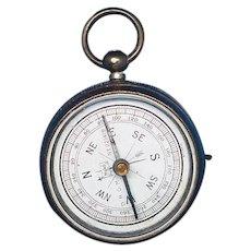 Figural pocket watch shaped compass match safe, c. 1890