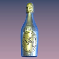 Figural champagne bottle, souvenir Isle of Man, match safe, c. 1895
