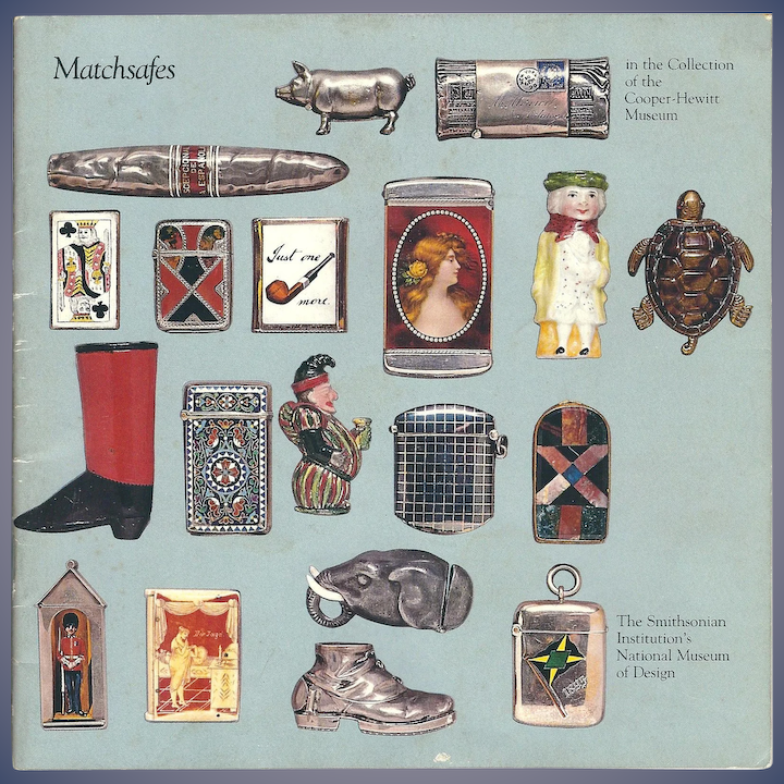 MATCHSAFES booklet by Cooper-Hewitt Museum, Smithsonian National Museum,  1981