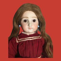 "21"" Sonneberg Bisque Closed Mouth Child Doll, Model 136, By Mystery Maker ~Schmitt-type Body"