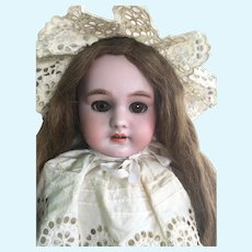 """Beautiful Doe-Eyed 21"""" French DEP 8 Bebe ~ Body and Head Stamped, circa 1910"""
