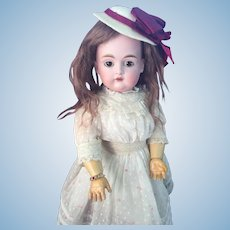 Petite German Bisque Child, 167, By Kestner With Factory Original Signed Body.