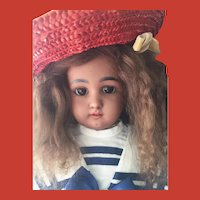Stunning Light Brown Mohair Skin Wig for Ethnic Doll ~Long and Curly