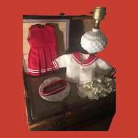 Adorable Bright Red w/ White ~ Mariner Outfit for Small Doll