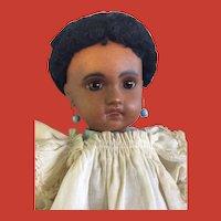 "15.5 "" Mulatto Jumeau Bebe 1907 SFBJ-era w/ presentation chemise dress"