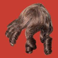 Elegant Vintage Human Hair Doll Wig ~French